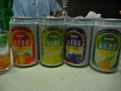 台湾でビールと言えば台湾ビール。台湾ビールからフルーツビール(?)が発売されていました。ビールの味が苦手な方にオススメ。