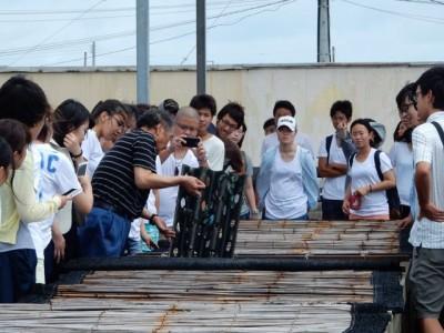千倉漁協にて、アワビの養殖についての説明を聞かせていただきました