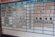台風13号接近により全便欠航です。さて、代替えプログラムのスタートです。