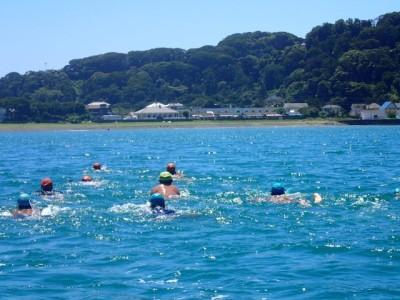 今年は泳力が高く、1時間ほどのあっという間の距離泳でした